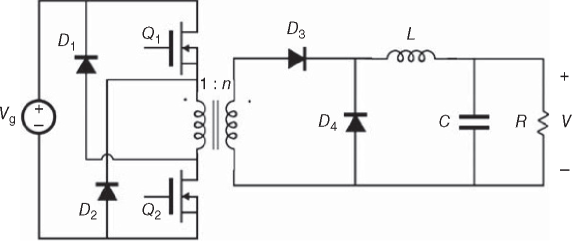 A two-transistor version of the forward converter
