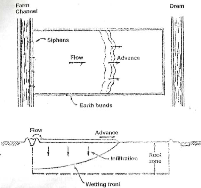 Water movement in the soil (a) Water moving on soil surface (b) water