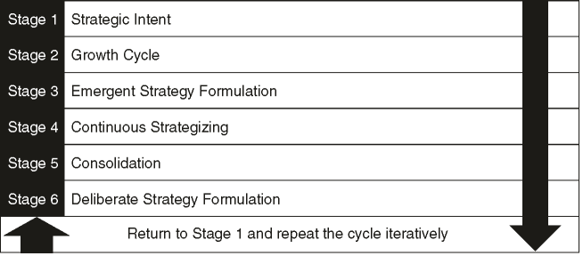Entrepreneurial-innovation strategy formulation cycle (adapted from Burns 2013)