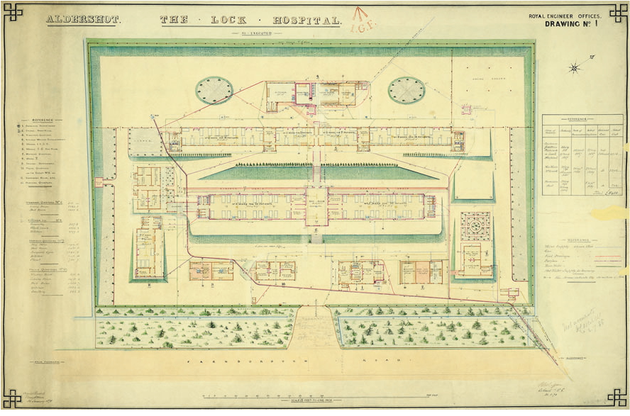Lock Hospital in Aldershot, Aldershot Lock Hospital, General Plan