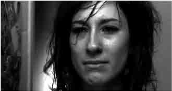 Sibel (Sibel Kekilli) in Head-On, DVD capture