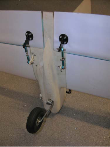Tail wheel showing suspension spring