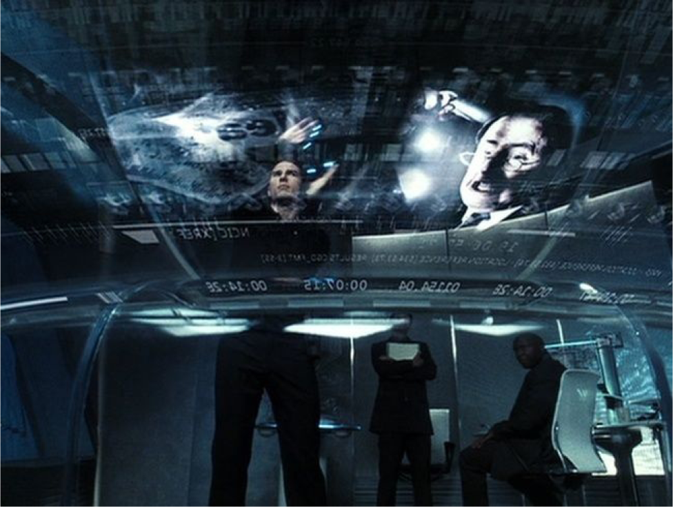 An image from the famous movie Minority Report, directed by Steven Spielberg (Paramount Home