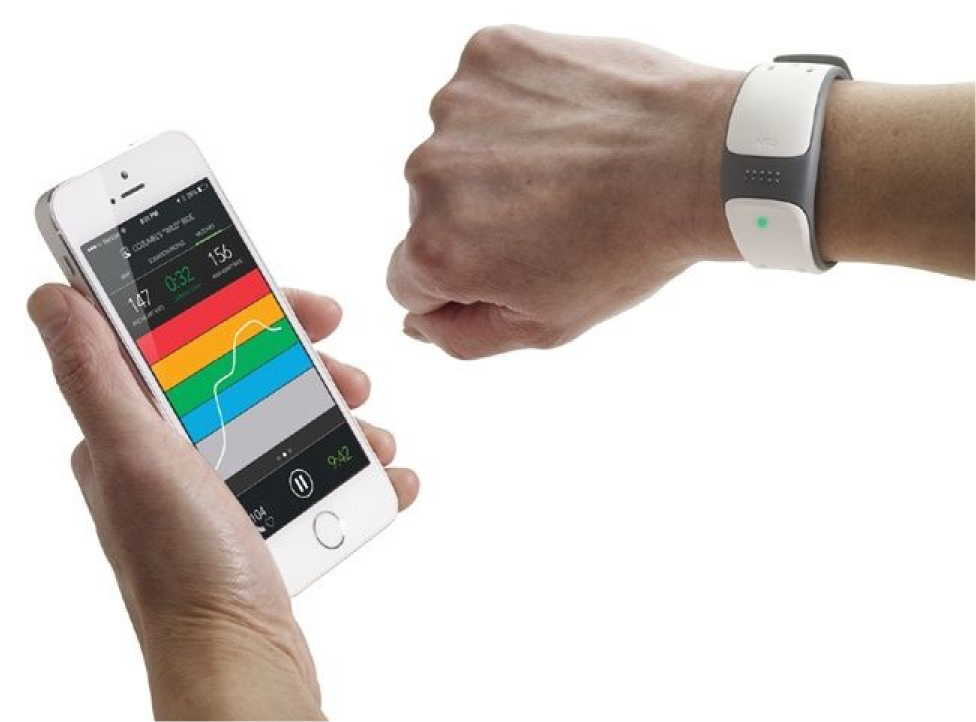 Mio LINK, which uses a single on-device LED to provide feedback about the heart rate state