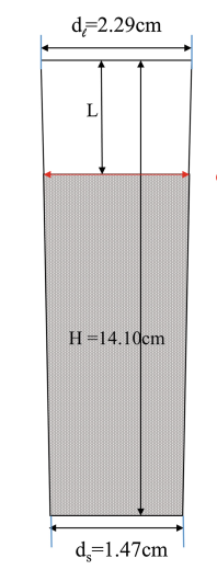 MBE Ga conical (near-cylindrical) crucible (L = 1.04 cm, d = 1.90 cm)