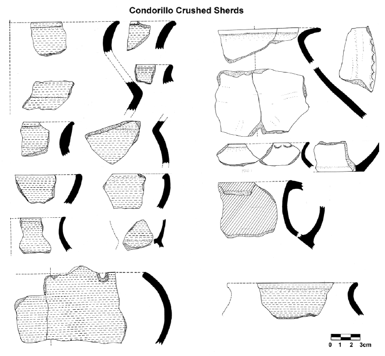 Condorillo Crushed Sherds pottery style from the eastern tropics and savannas (Khosko Toro region)