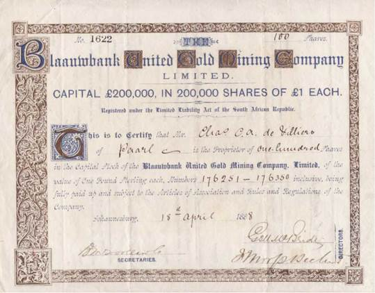 EXAMPLE OF AN ORDINARY SHARE CERTIFICATE  Example Of Share Certificate