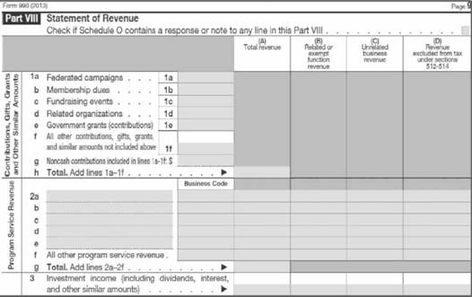 Income Statement And Form 990, Balance Sheet, Assets - Financial
