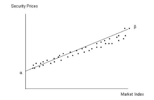 The Relationship between Security Prices and Market Movements The Characteristic Line