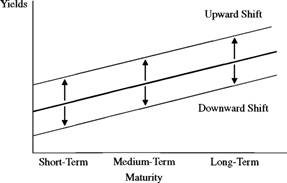 Parallel Upward and Downward Yield Curve Shifts