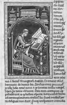 St. Isidore of Seville set the ambitious goal of describing all human knowledge in an extensive encyclopedia (Art Archive).