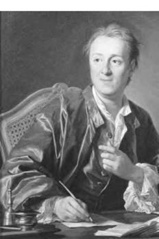 Denis Diderot is credited with creating the field of literary criticism (Art Archive).