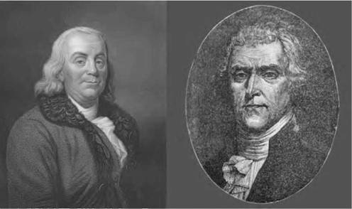 Founding Fathers of the United States such as Benjamin Franklin (left) and Thomas Jefferson were energized by the Age of Enlightenment and the flourishing ideals of liberty and democracy (iStock).